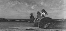 Cabianca, Figure su una costa | Figures on a coast