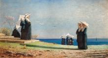 Vincenzo Cabianca, Monachine in riva al mare