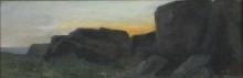Cabianca, Paesaggio roccioso all'alba.jpg