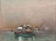 Cabianca, Venezia, monache in gondola all'imbrunire.jpg