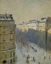 Caillebotte, Boulevard Haussmann, effetto di neve [1879-1881 circa].jpg