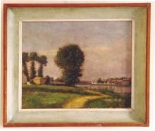 Caillebotte, L'argine del Petit Gennevilliers e la Senna [1892-1893] [cornice].jpg