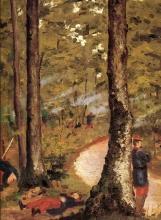Caillebotte, Militari in un bosco, Yerres.jpg