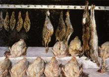 Caillebotte, Natura morta, polli e selvaggina in mostra.jpg
