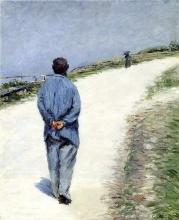 Caillebotte, Pere Magloire sulla strada da Saint Clair a Etretat.jpg