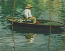 Caillebotte, Pescatore in barca.jpg