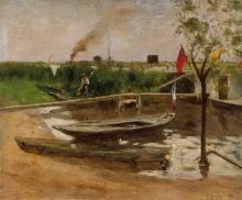 Caillebotte, Rimessa di barche sulla Senna   Remise de barques sur la Seine   Bootshafen an der Seine   Boat garage on the Seine