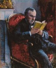 Caillebotte, Ritratto di Eugene Daufresne che legge.jpg