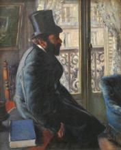Caillebotte, Uomo con cappello a cilindro seduto vicino ad una finestra   Homme au chapeau haut de forme, assis près d'une fenêtre