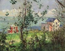 Gustave Caillebotte, Ville a Trouville   Villas à Trouville [1882]