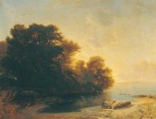 Calame, Alberi in riva al lago.jpg