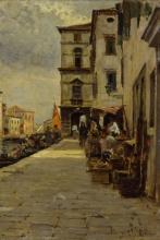 Vincenzo Caprile, Mercato a Chioggia