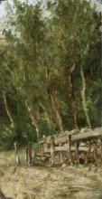 Cecconi, Bosco con una catasta di legna.jpg