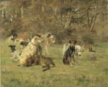 Cecconi, Cani nella radura.jpg