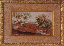 Cecconi, Paesaggio di campagna con covoni di fieno.jpg