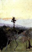 Cecconi, Paesaggio in Toscana