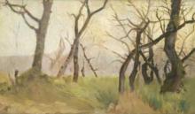 Eugenio Cecconi, Paesaggio invernale. Alberi spogli