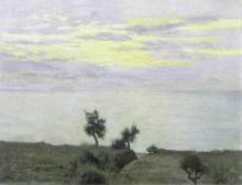 Eugenio Cecconi, Veduta di colline (Tramonto sul mare)