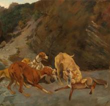 Cecconi, Volpe azzannata dai cani [dettaglio 2].png