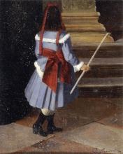 Adriano Cecioni (attribuito a), Bambina   Little girl