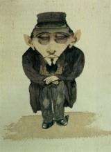 Adriano Cecioni, Caricatura del mercante Retlinger
