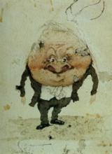 Adriano Cecioni, Caricatura di Grazzini arciprete del duomo