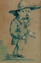 Adriano Cecioni, Caricatura di Puccinelli
