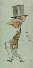 Adriano Cecioni, Caricatura di Silvestro Lega