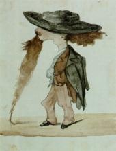 Adriano Cecioni, Caricatura di Vincenzo Cabianca