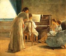 Adriano Cecioni, La lezione di piano