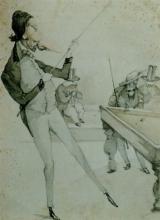 Adriano Cecioni, Partita a biliardo