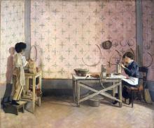 Adriano Cecioni, Ragazzi che lavorano l'alabastro
