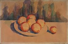 Cézanne, Arance su un piatto | Oranges sur une assiette | Oranges on a plate