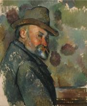 Cezanne, Autoritratto con cappello floscio.png