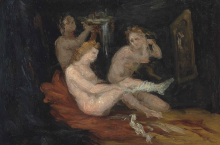 Cezanne, Donne che si vestono.png