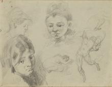 Cézanne, Foglio di studi [recto]