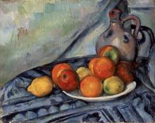 Cezanne, Frutta e un orcio su una tavola.png