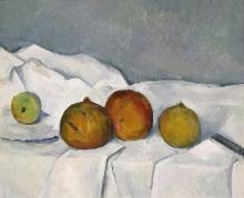 Cezanne, Frutta su una tovaglia.jpg