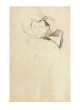 Cezanne, Il ragazzo con il cappello di paglia seduto su una sedia [verso].png