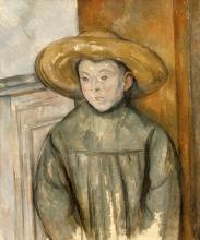 Cezanne, Il ragazzo con il cappello di paglia.png