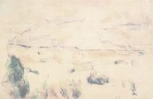 Cezanne, La montagna Saint Victoire vista dalle Lauves [verso].jpg