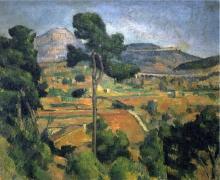 Cezanne, La montagna Sainte Victoire vista da Montbriand.jpg