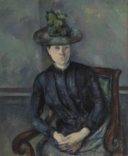 Cezanne, La signora Cezanne con cappello verde.jpg