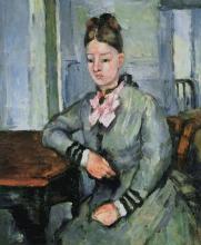 Cezanne, La signora Cezanne con il gomito appoggiato sul tavolo.jpg