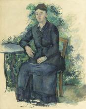 Cezanne, La signora Cezanne in giardino.png