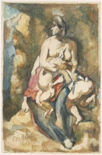 Paul Cézanne, Medea, da Delacroix | La Médée, d'après Delacroix | Medea, nach Delacroix