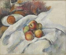 Cezanne, Mele su una tovaglia.jpg