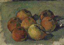 Cezanne, Natura morta con sette mele e tubo di colore.jpg