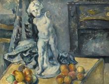 Cezanne, Natura morta con statuetta | Still life with statuette