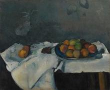Cezanne, Natura morta, piatto di pesche.jpg
